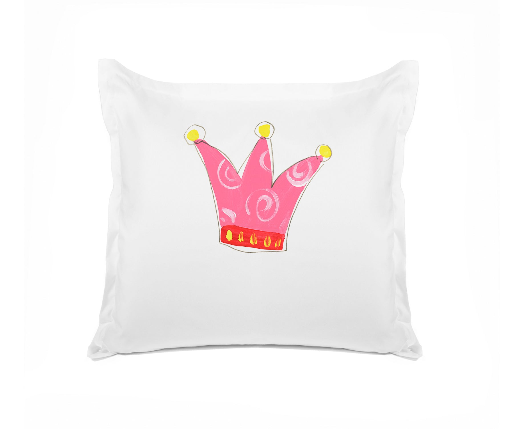 Pretty Pink Crown - Personalized Kids Pillowcase Collection