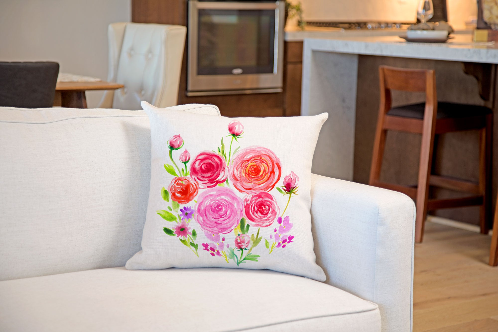 Ranunculus Throw Pillow Cover - Decorative Designs Throw Pillow Cover Collection