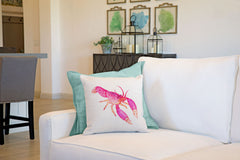 Reef Lobster Throw Pillow Cover - Coastal Designs Throw Pillow Cover Collection