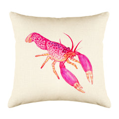 Reef Lobster Throw Pillow Cover - Coastal Designs Throw Pillow Cover Collection-Di Lewis