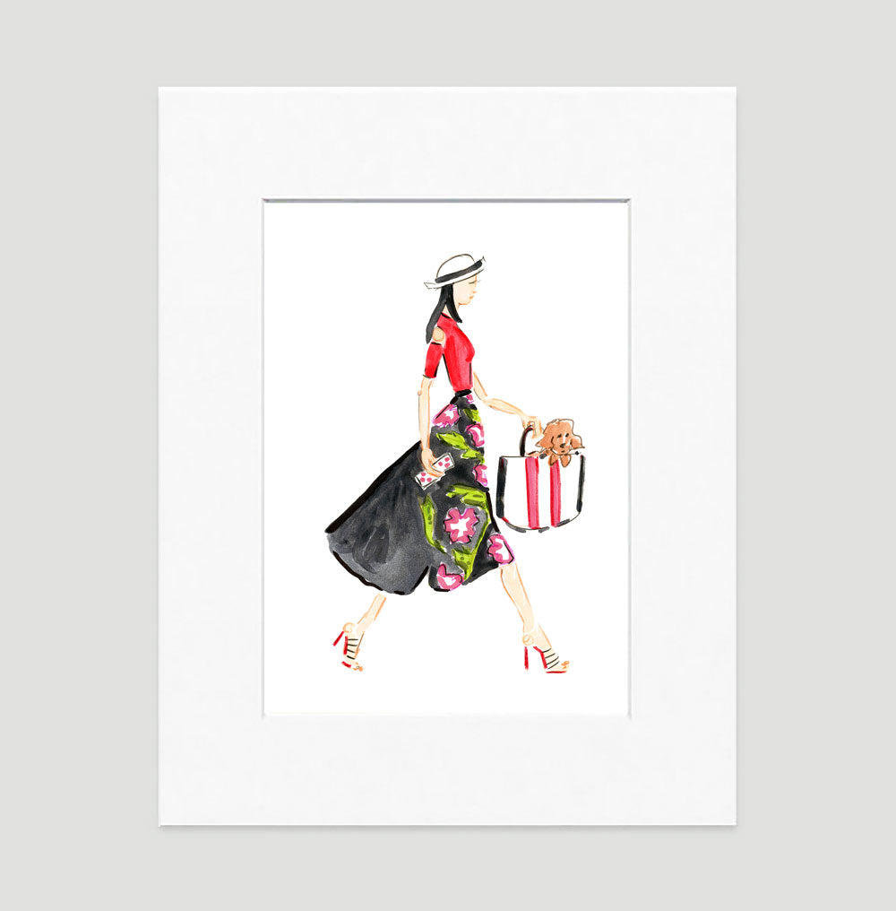 Runway Art Print - Fashion Illustration Wall Art Collection-Di Lewis