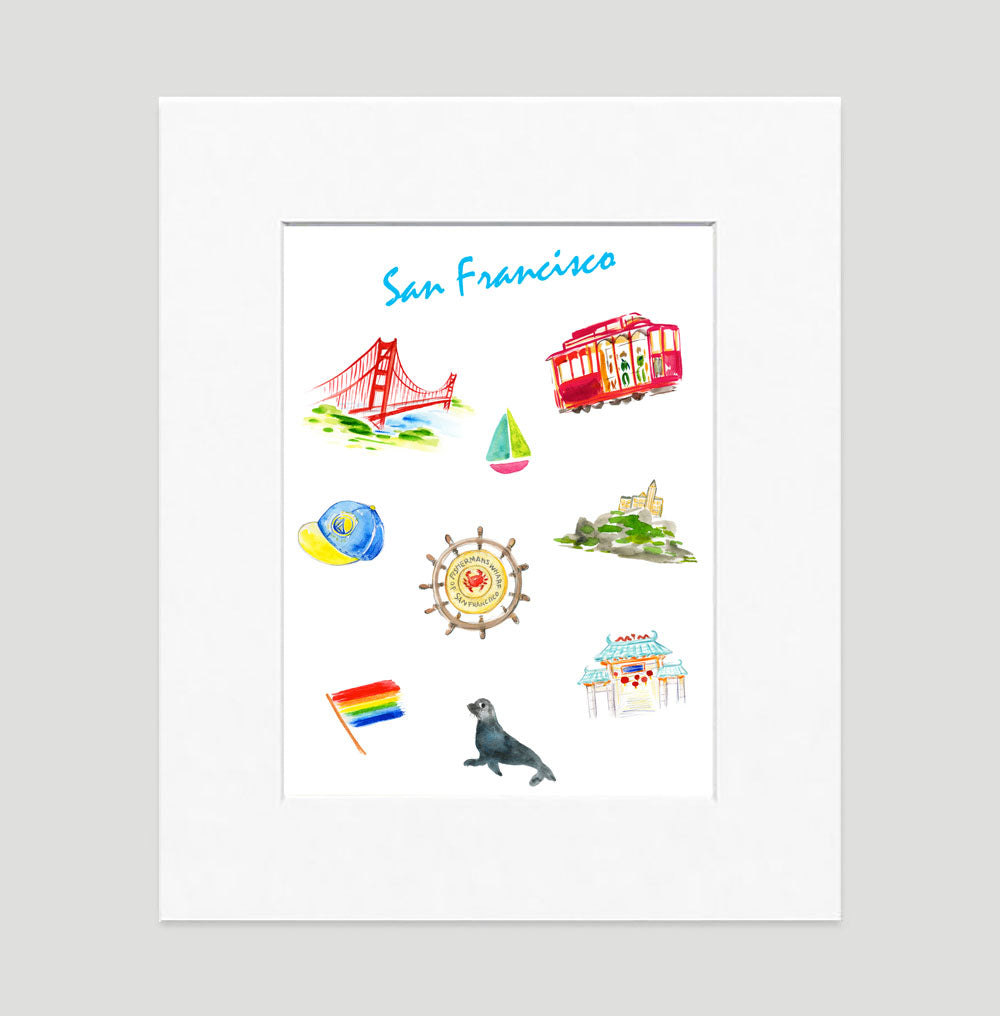 San Francisco Art Print - Traveler Prints Wall Art Collection