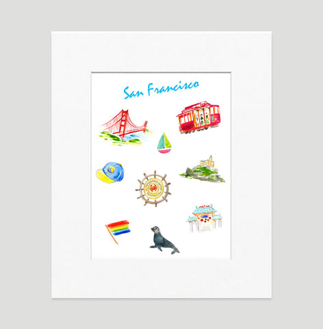 San Francisco Art Print - Travel Print Wall Art Collection-Matted-Di Lewis