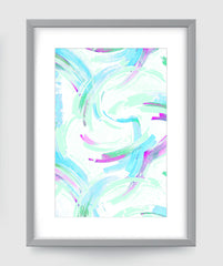 Sakura Abstract Art Print Di Lewis Living Room Wall Decor