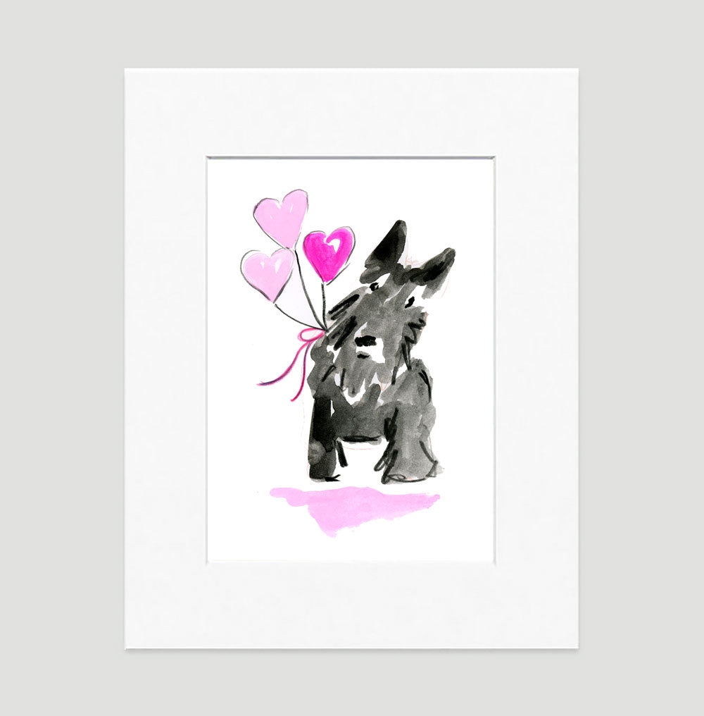 Sammie Scottie - Dog Illustrations Wall Art Collection-Di Lewis