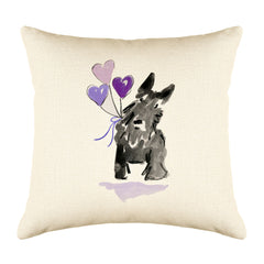 Sammie Scottie Throw Pillow Cover - Dog Illustration Throw Pillow Cover Collection-Di Lewis