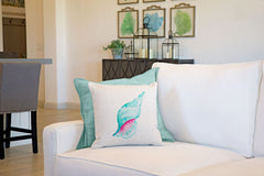 Sea Shell Throw Pillow Cover - Coastal Designs Throw Pillow Cover Collection-Di Lewis