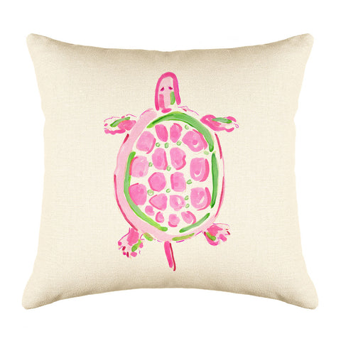 Sea Turtle Pink Throw Pillow Cover - Coastal Designs Throw Pillow Cover Collection