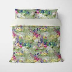FLORAL DUVET COVERS & BEDDING SETS SECRET GARDEN JADE - FLOWER DESIGN - HYPOALLERGENIC