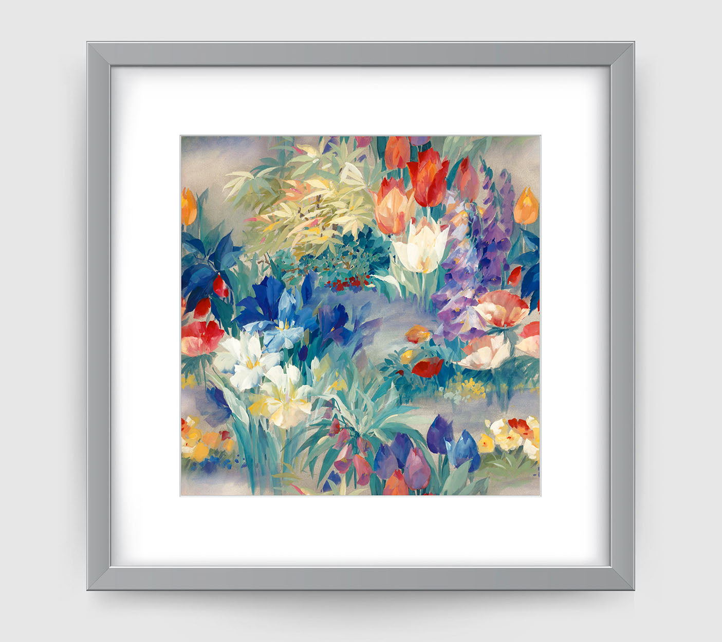 Secret Garden Impressionist Art Print Di Lewis Living Room Wall Decor
