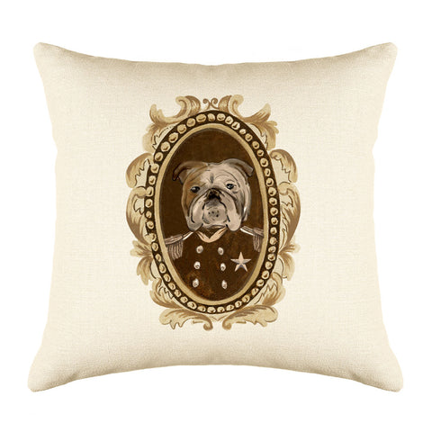 Sergeant Bulldog Throw Pillow Cover
