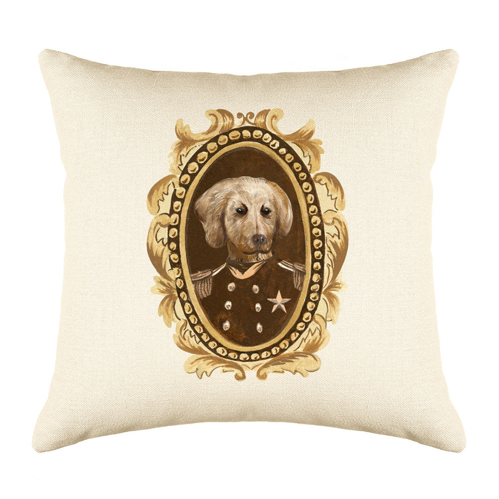 Sergeant Retriever Throw Pillow Cover - Dog Illustration Throw Pillow Cover Collection-Di Lewis