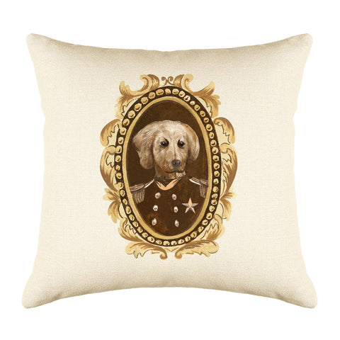 Sergeant Retriever Throw Pillow Cover