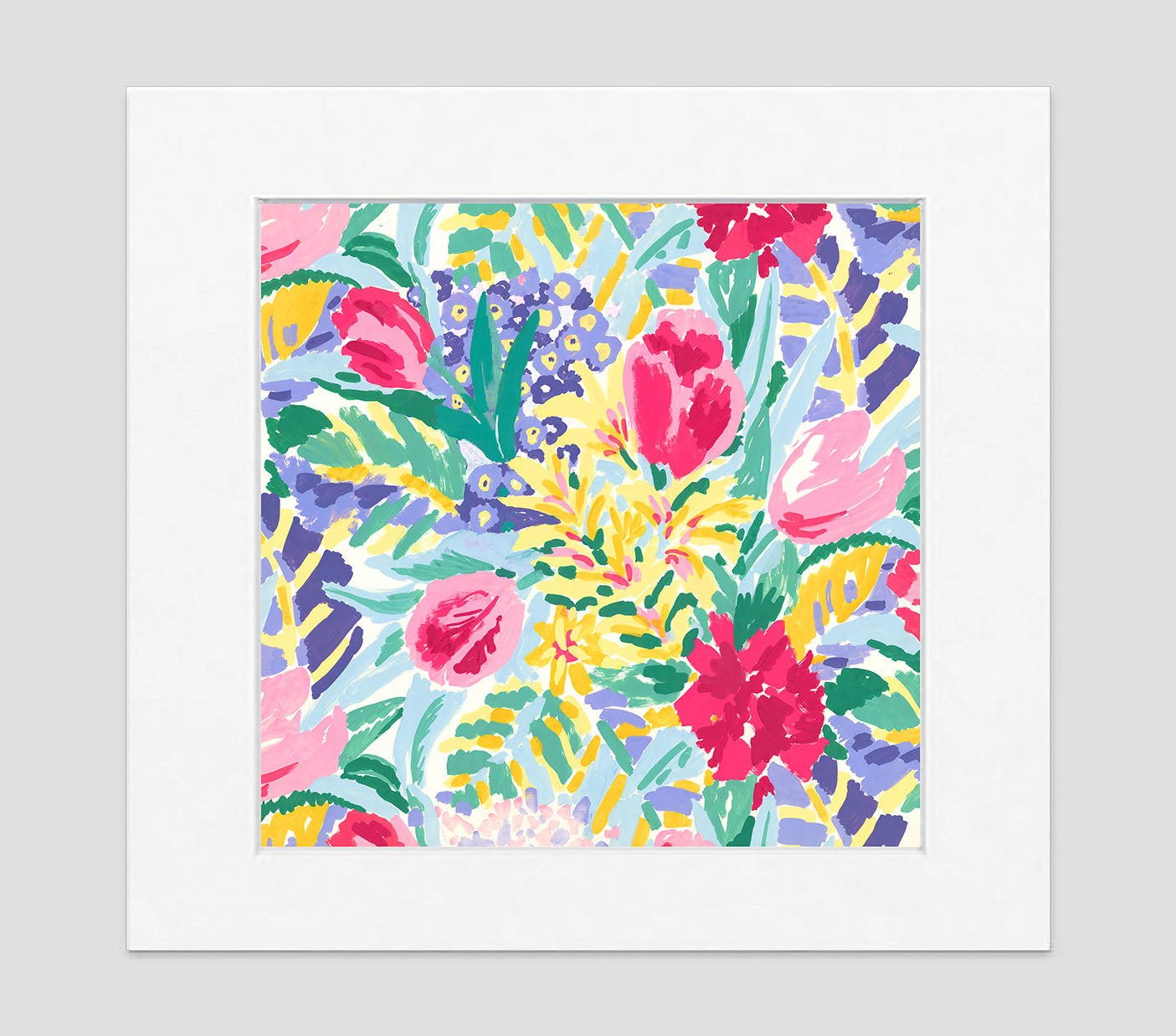 Shangri-La Floral Art Print Di Lewis Living Room Wall Decor