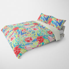 FLORAL DUVET COVERS & BEDDING SETS SHANGRI-LA TROPICAL - FLOWER DESIGN - HYPOALLERGENIC