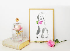 Sally Sheep Dog Art Print