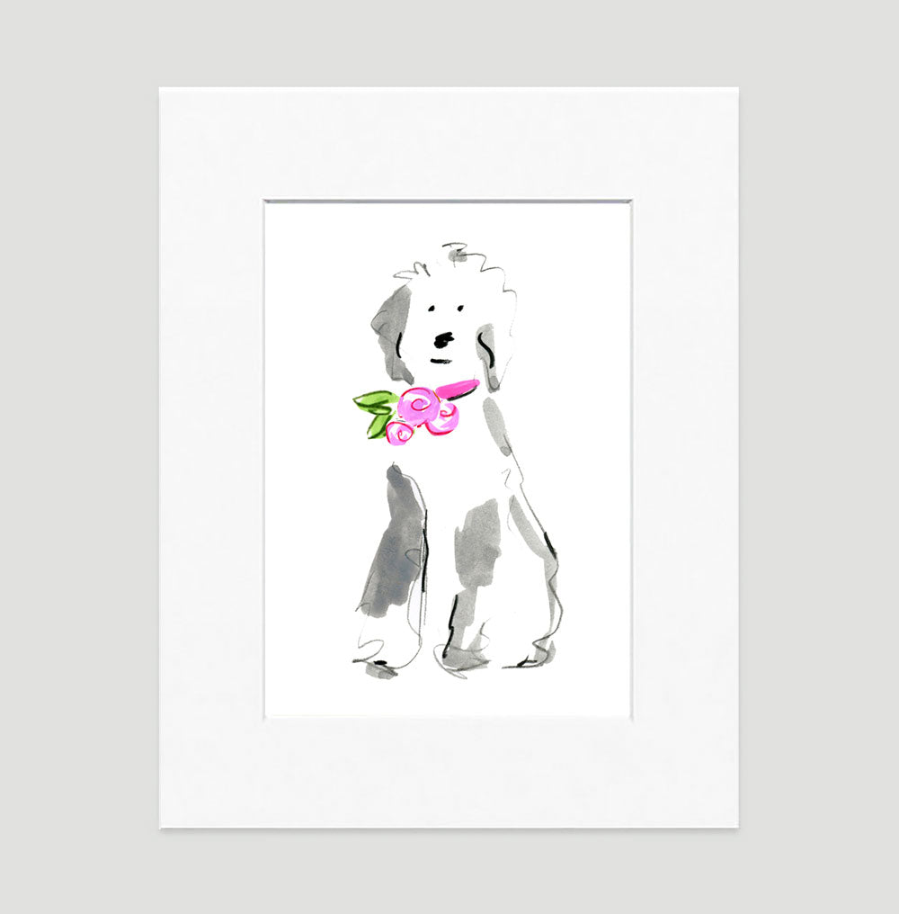 Sally Sheep Dog Art Print - Dog Illustrations Wall Art Collection-Di Lewis