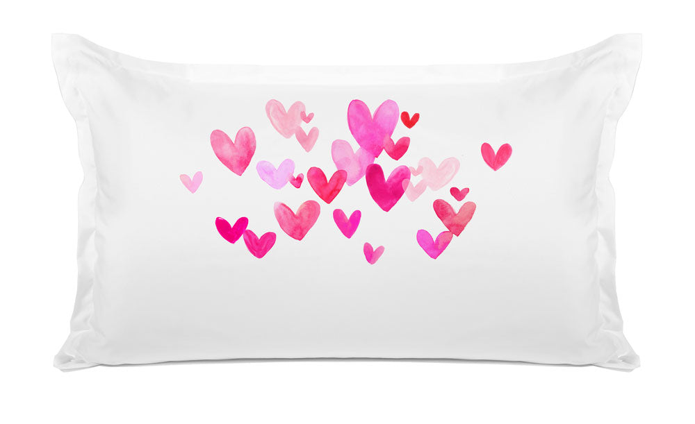 Small Pink Hearts - Personalized Kids Pillowcase Collection