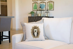 Siamese Cat Portrait Throw Pillow Cover - Cat Illustration Throw Pillow Cover Collection-Di Lewis