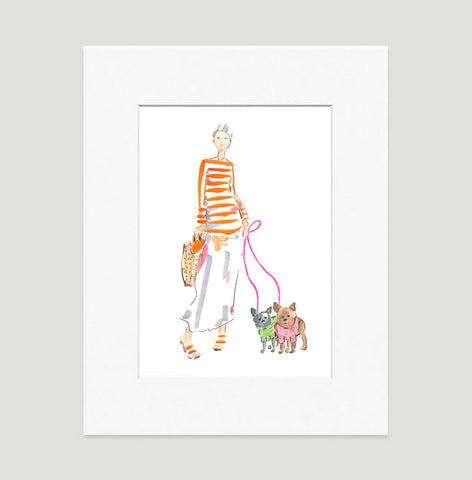 Simply Natural Art Print - Fashion Illustration Wall Art Collection-Di Lewis