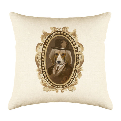Sir Beagle Throw Pillow Cover