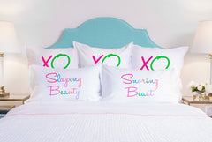 Sleeping Beauty, Snoring Beast pillow sets Di Lewis bedroom decor