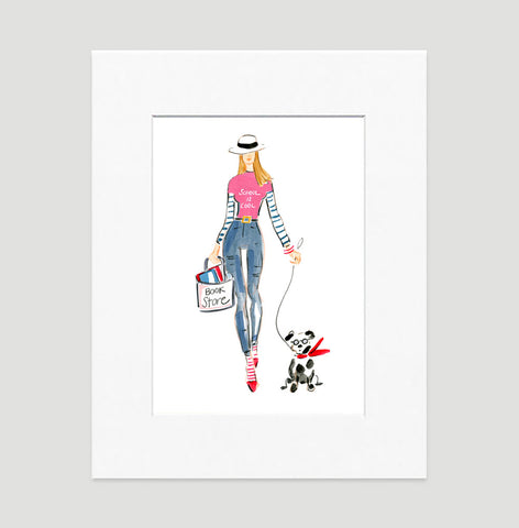 Smart And Hip Art Print - Fashion Illustration Wall Art Collection-Di Lewis