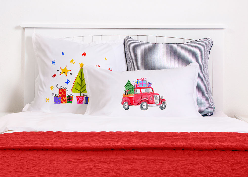 Christmas Truck Delivery - Kids Personalized Pillowcase Collection
