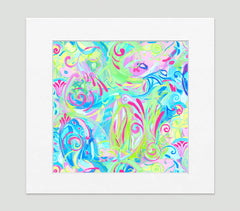 Spiro Abstract Art Print Di Lewis Living Room Wall Decor