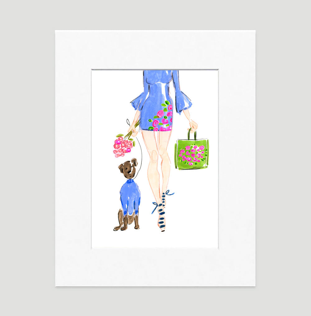 Spring Fling Art Print - Fashion Illustration Wall Art Collection-Di Lewis
