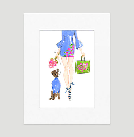 Spring Fling Art Print - Fashion Illustration Wall Art Collection-Matted-Di Lewis