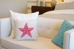 Starfish Throw Pillow Cover - Coastal Designs Throw Pillow Cover Collection