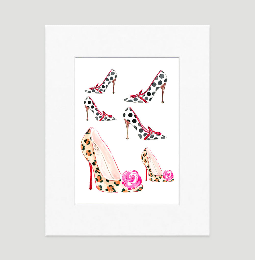Step It Up Art Print - Fashion Illustration Wall Art Collection