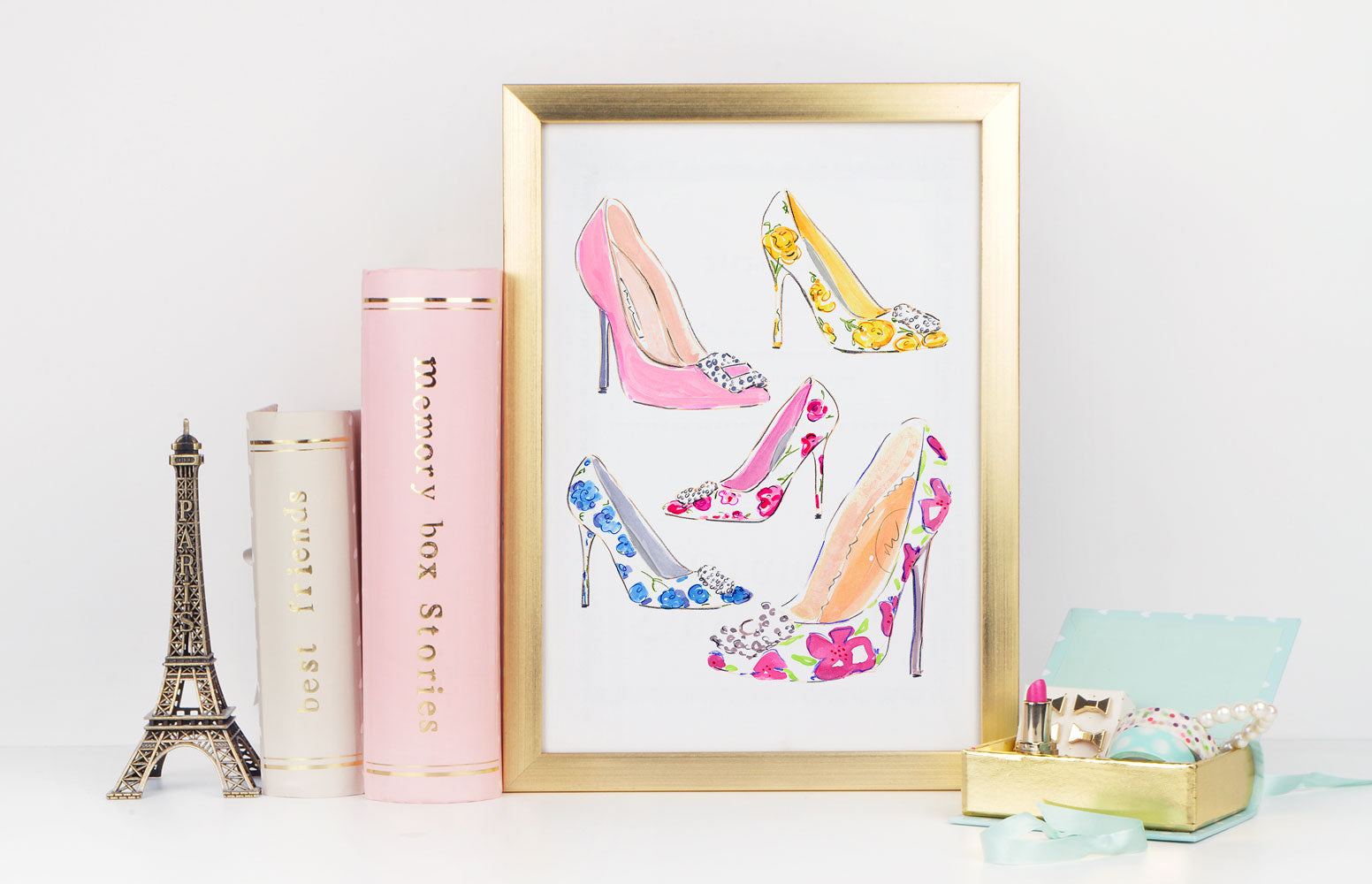 Stepping Out Art Print - Fashion Illustration Wall Art Collection-Di Lewis