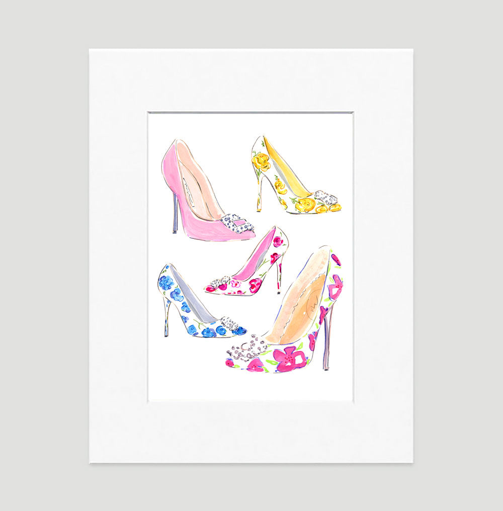 Stepping Out Art Print - Fashion Illustration Wall Art Collection