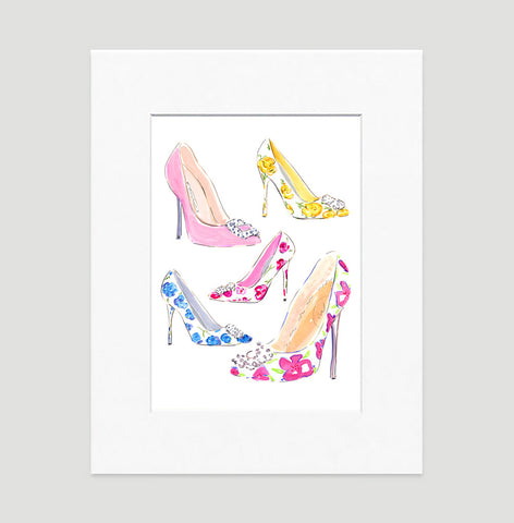 Stepping Out Art Print - Fashion Illustration Wall Art Collection-Matted-Di Lewis