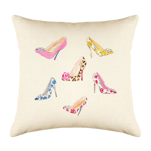 Stepping Out Throw Pillow Cover - Fashion Illustrations Throw Pillow Cover Collection-Di Lewis