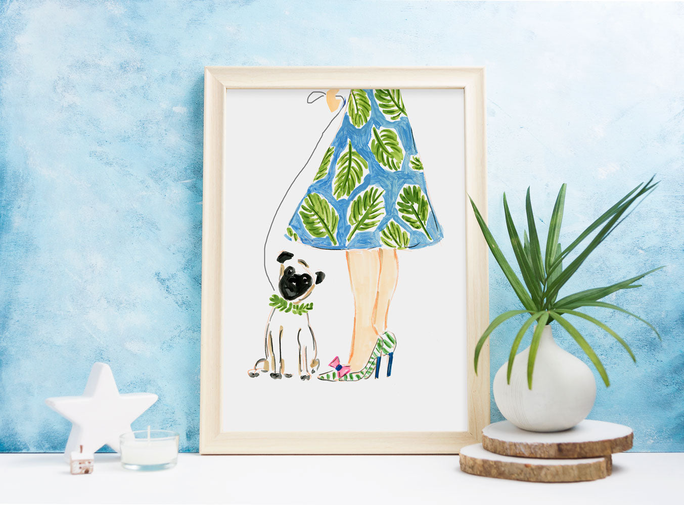 Summer Afternoon Art Print - Fashion Illustration Wall Art Collection-Di Lewis