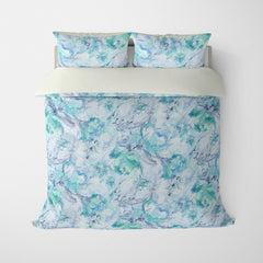 FLORAL DUVET COVERS & BEDDING SETS SUMMER BREEZE SPLASH - FLOWER DESIGN - HYPOALLERGENIC