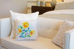 Sunflower Throw Pillow Cover - Decorative Designs Throw Pillow Cover Collection