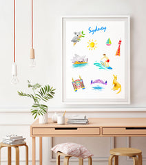 Sydney Art Print - Travel Print Wall Art Collection-Di Lewis