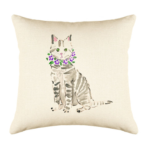Toby Throw Pillow Cover - Cat Illustrations Throw Pillow Cover Collection