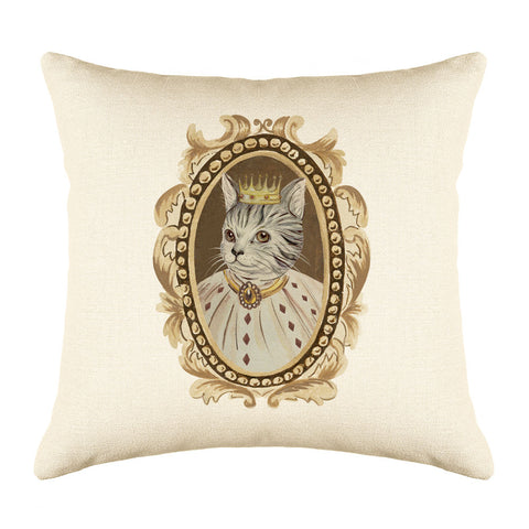 Tabby Cat Throw Pillow Cover - Cat Illustration Throw Pillow Cover Collection