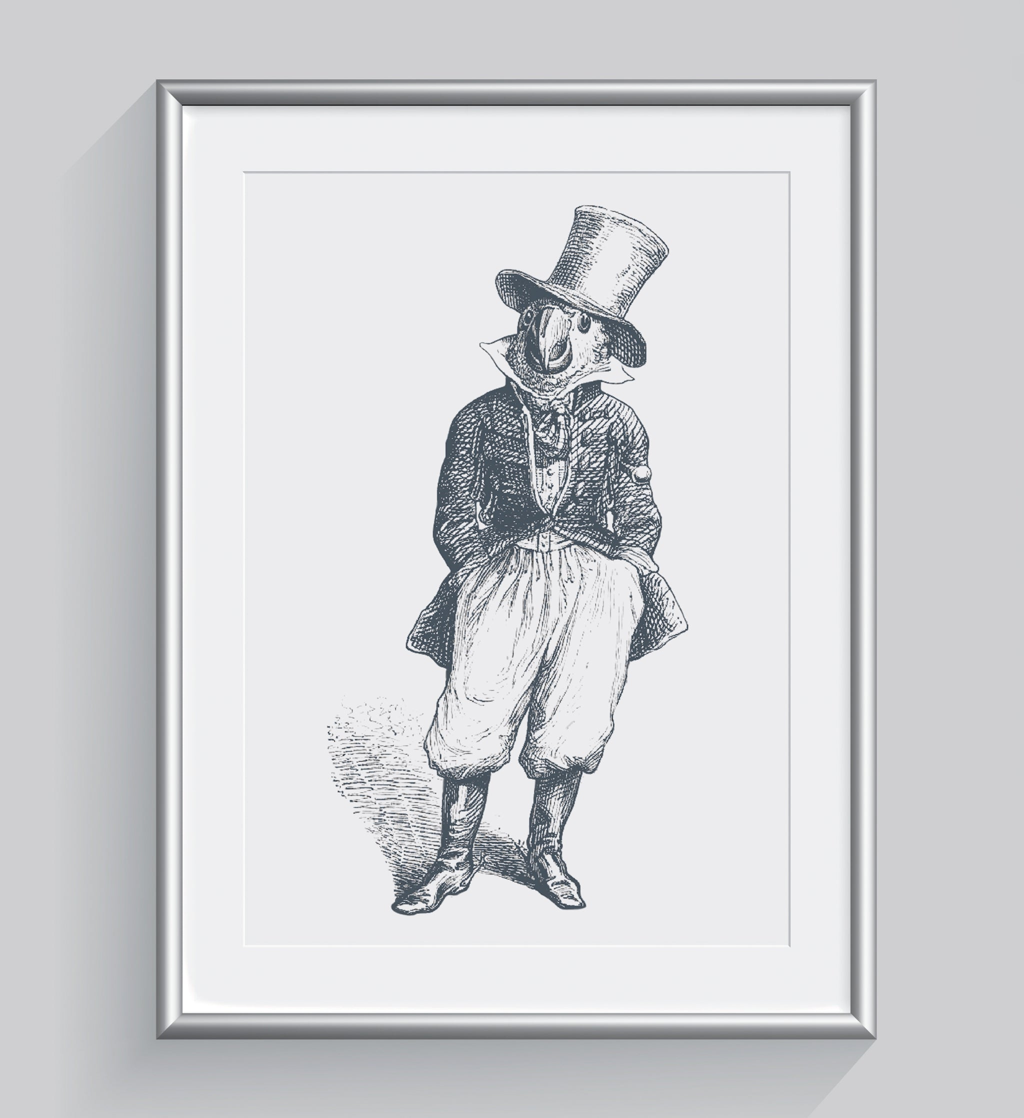 The General Art Print - Animal Illustrations Wall Art Collection-Framed-Di Lewis