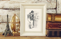 The Greedy Crocodile Art Print - Animal Illustrations Wall Art Collection-Di Lewis