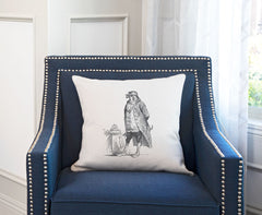 The Honorable Falcon Throw Pillow Cover - Animal Illustrations Throw Pillow Cover Collection-Di Lewis