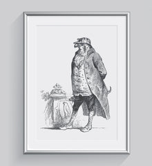 The Honorable Falcon Art Print - Animal Illustrations Wall Art Collection-Di Lewis