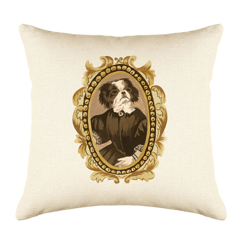 The Honorable Pekingese Throw Pillow Cover