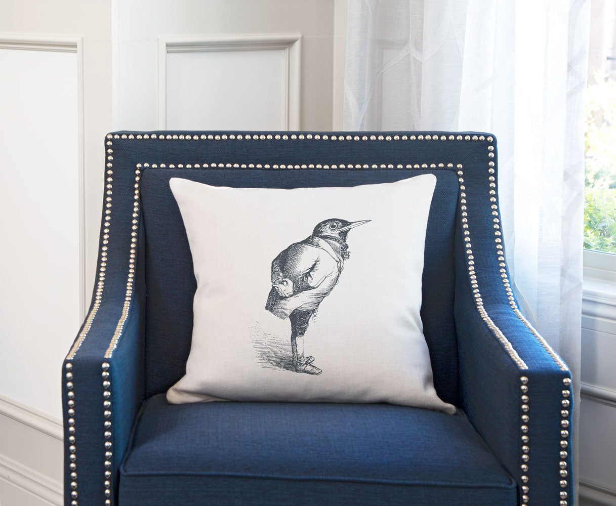 The Humble Starling Throw Pillow Cover