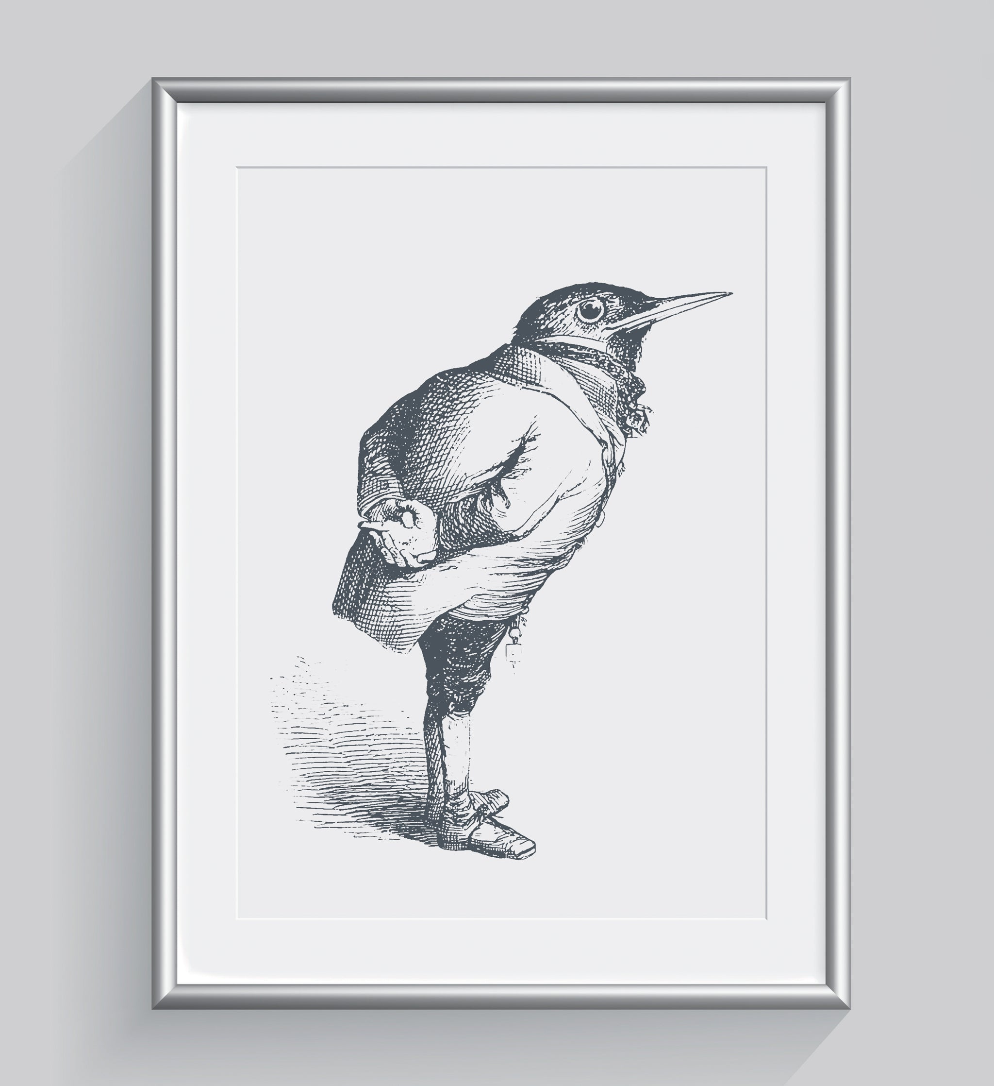 The Humble Starling Art Print - Animal Illustrations Wall Art Collection-Di Lewis